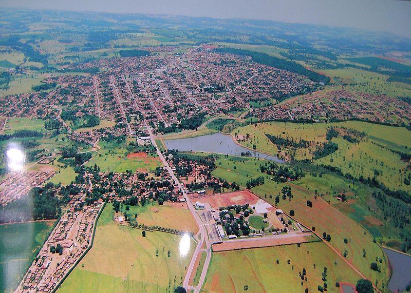 Vista aérea da cidade de Morrinhos-Goiás