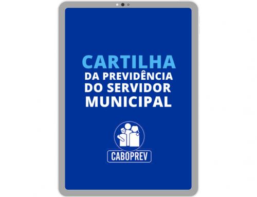Caboprev divulga a nova Cartilha da Previdência do Servidor Municipal