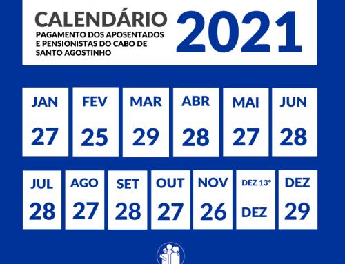 Caboprev e Prefeitura divulgam calendário de pagamentos de 2021 dos aposentados e pensionistas do Cabo de Santo Agostinho