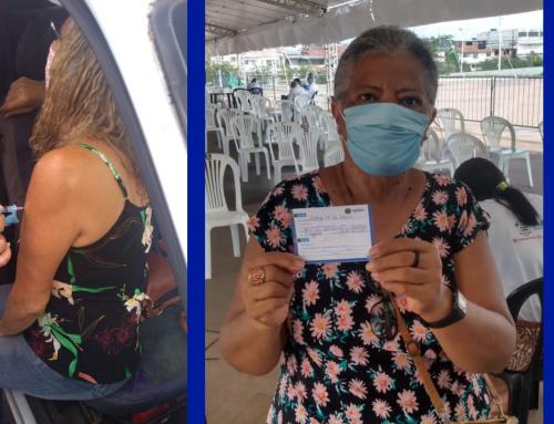 Aposentadas do Caboprev relatam alívio após vacinação contra a Covid-19